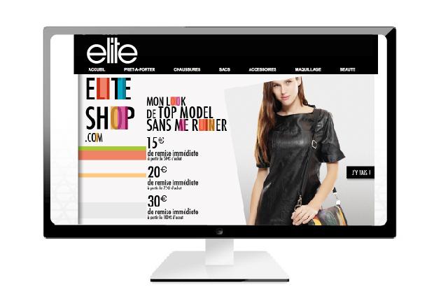 Home page du site Elite